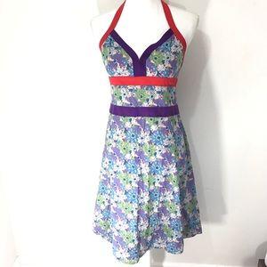 Mar jacobs floral colorblock dress